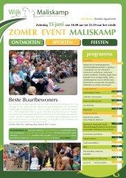 Bekijk hier de PDF van de flyer - Wijk Maliskamp