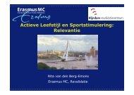 Actieve Leefstijlen Sportstimulering: Relevantie - Op Eigen Benen