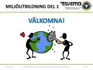 MILJÖUTBILDNING DEL 1 - Svenska Bilsportförbundet