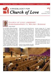 Kirkeblad, september 2010 - Church Of Love