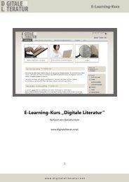 Klicken Sie hier, um eine PDF-Version des ... - Digitale Literatur