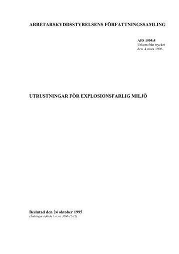 Utrustningar för explosionsfarliga miljö - IRSE