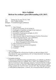 Skive Sejlklub Referat fra ordinær generalforsamling (GF) 2013.