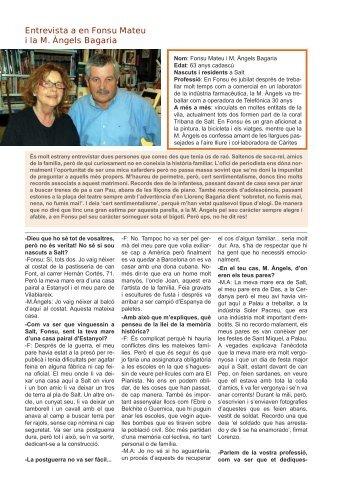 Entrevista a en Fonsu Mateu i la M. Àngels ... - Revistalafarga.net
