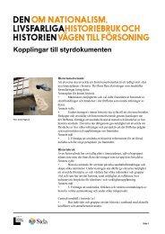 Kopplingar till styrdokumenten - Forum för levande historia