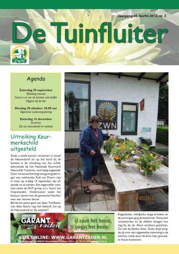 De Tuinfluiter nr. 3 herfst 2012 - Zwn Volkstuinen