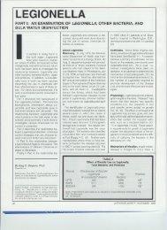 disinfection biocides on legionella article - Hydro Zone