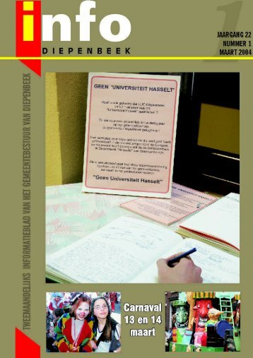 InfoDiepenbeek maart 2004 - Gemeente Diepenbeek
