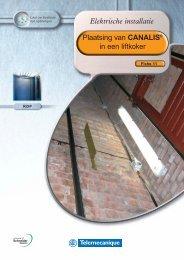 Plaatsing van CANALIS® in een liftkoker Elektrische installatie