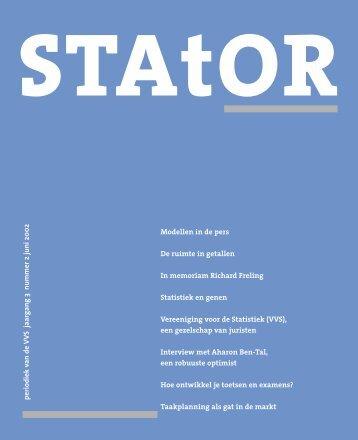 De ruimte in getallen - Netherlands Society for Statistics and ...