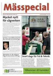 Mycket nytt för sågverken - Svenska Mässan