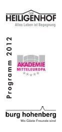 Jahresprogramm - Heiligenhof