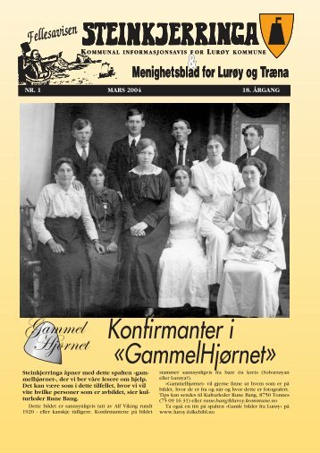 Konfirmanter i «GammelHjørnet» - Lurøy bibliotek