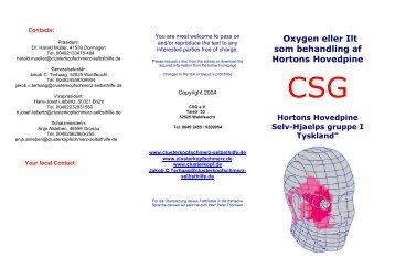 Aanspreekpartners van de CSG: