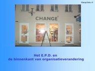 Verandermanagement en EPD