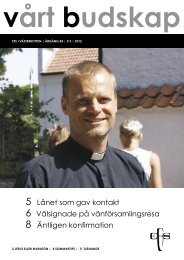 Vårt Budskap nr 3/12 - EFS Västerbotten