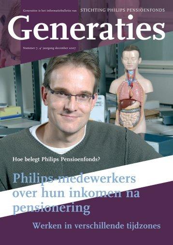 Generaties december 2007 - Philips Pensioenfonds