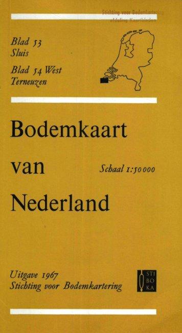 toelichting bodemkaart blad 53-54W - t Zeeuws Bodemvenster - Home