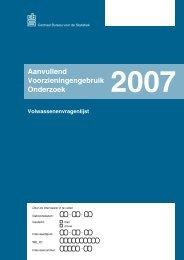 Vragenlijst AVO 2007 - Mulier Instituut