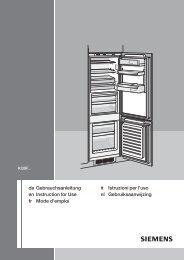 Siemens KI 39FP60 Fridge Freezer Operating Instructions User ...