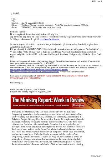 JANNE Sida 1 av 5 2008-08-13 Syskon i Herren ... - Elvor och Janne