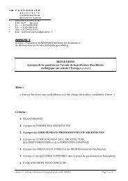 ANNEXE 2 - Ordre des Architectes