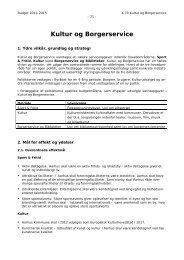 Bemærkninger - Kultur og Borgerservice (pdf 283 KB) - Aarhus.dk