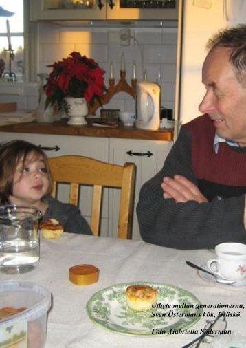 Utbyte mellan generationerna, Sven Östermans kök, Gräskö. Foto ...