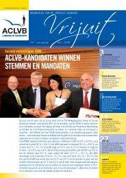 ACLVB-KANDIDATEN WINNEN STEMMEN EN MANDATEN