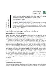 Peter Thewes: Aus den Lebenserinnerungen von Pfarrer Peter