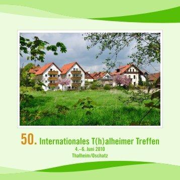 50.Internationales T(h)alheimer Treffen - Heimatverein Thalheim eV