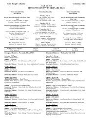 July 18 Bulletin - St. Joseph Cathedral