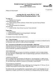 Referat 20. marts 2013 Ekstraordinært afdelingsmøde - Almenbo