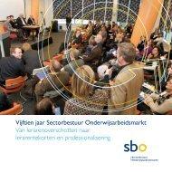 Vijftien jaar Sectorbestuur Onderwijsarbeidsmarkt - sbo ...
