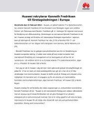 Huawei rekryterar Kenneth Fredriksen till ... - Mynewsdesk