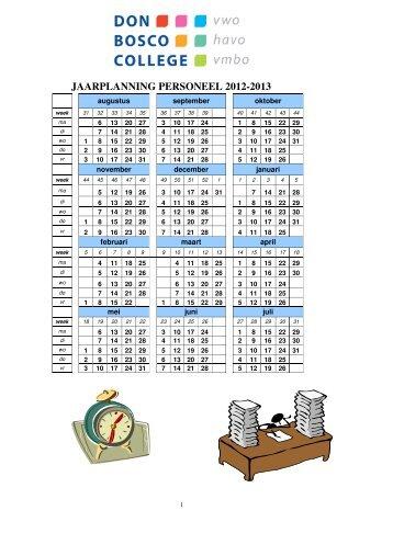 JAARPLANNING PERSONEEL 2012-2013 - Don Bosco College