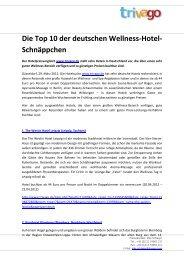 Die Top 10  der deutschen Wellness-Hotel- Schnäppchen - Trivago