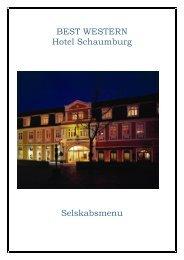 BEST WESTERN Hotel Schaumburg Selskabsmenu