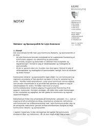 Reklame- og Sponsorpolitik for Lejre Kommune