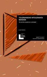 Skriftserie 14 Toleransens intoleranta baksida.pdf - Forum för ...