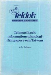 Telematik och informationsteknologi i Singapore och Taiwan - Teldok