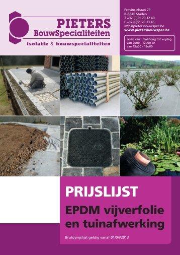 Catalogus tuin & vijver - Pieters Bouwspecialiteiten