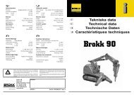 Tekniska data Technical data Technische Daten ... - Rubble Makers