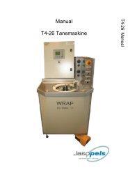 Manual T4-26 Tanemaskine - Jasopels.dk
