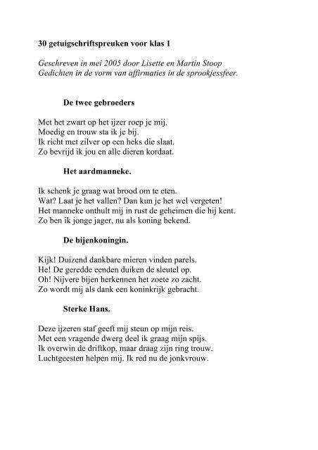 Getuigschriftspreuken Klas 1 Gedichten In De Vorm Van
