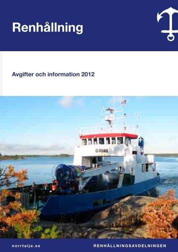 Informationsfolder och avgifter - Norrtälje kommun