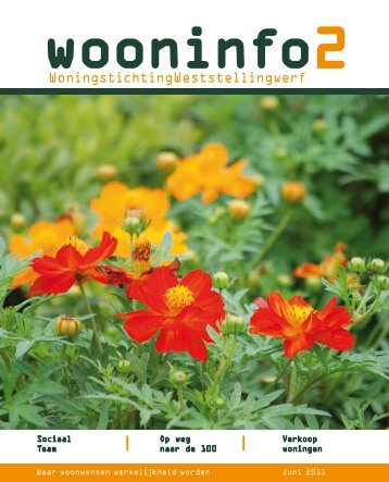 Wooninfo 2 2011 - Woningstichting Weststellingwerf