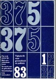 Tijdschrift Gezondheid en Politiek jaargang 1983 nr 1