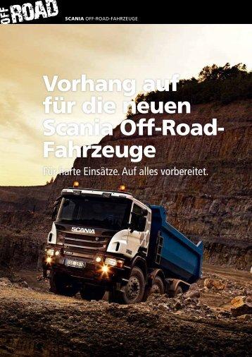Vorhang auf für die neuen Scania Off-Road- Fahrzeuge