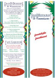 Grill Special menu B - Le Connaisseur